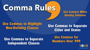 comma rules examples