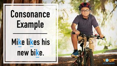 consonance example mike likes his new bike