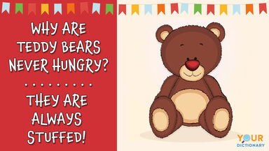 puns for kids with stuffed teddy bear