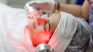 infrared light therapy facial treatment radiation example