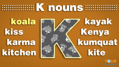 nouns that start with k