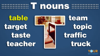 nouns that start with t