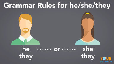 grammar rules for he/she/they
