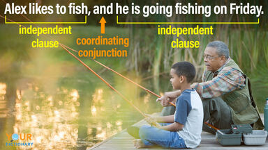independent clause and coordinating conjunction compound sentence
