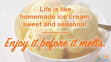 refreshing funny quote ice cream