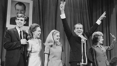 Richard Nixon and Family Celebrating Presidential Victory