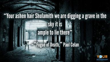 elegy poem fugue of death paul celan