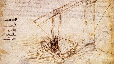ship from the codex trivulzianus Leonardo da Vinci