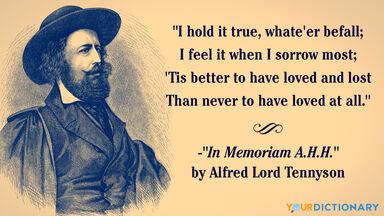 elegy quote alfred lord tennyson
