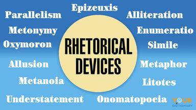 rhetorical devices examples