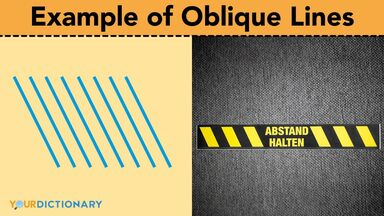 example of oblique lines stand here floor sign