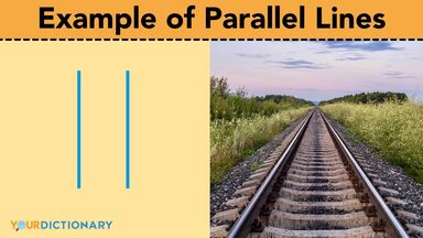 example of parallel lines railroad tracks