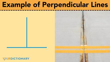 example of perpendicular lines road stripes