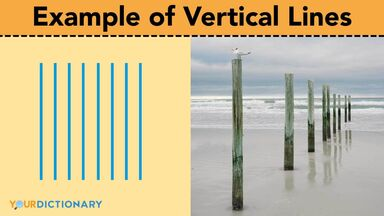 example of vertical lines beach pylons