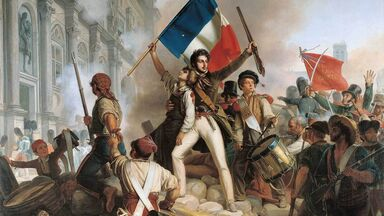 Fighting at the Hotel de Ville French Revolution