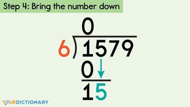 long division step 4 bring number down