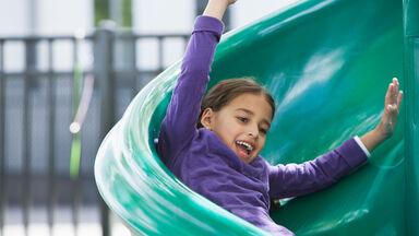 girl on slide example sliding friction activity