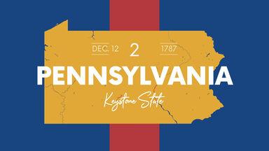 map Pennsylvania keystone state