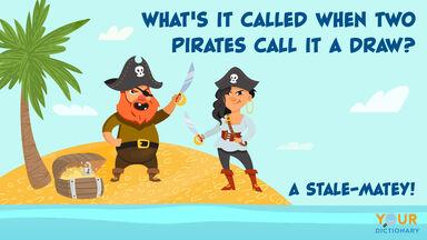 pirate pun two pirates call it a draw
