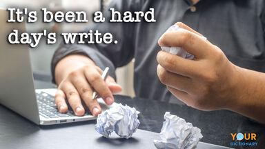 book pun hard days write