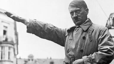 picture of Hitler as examples of totalitarianism