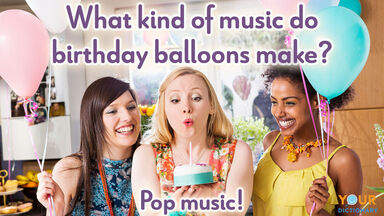 birthday pun birthday balloons