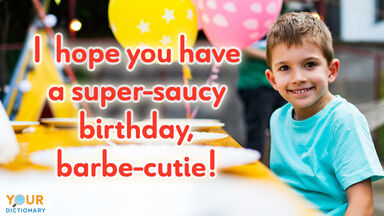 birthday pun super-saucy babe-cutie