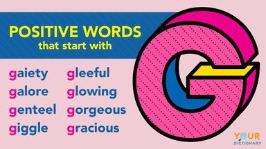 Positive G words examples