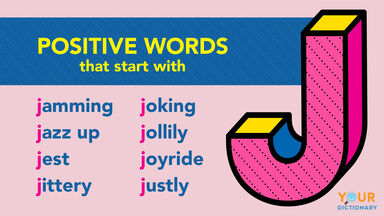 Positive J words examples