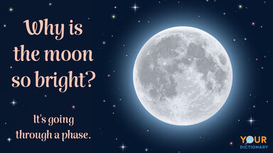 space pun why is moon so bright