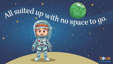 space pun all suited up