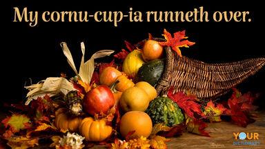 fall pun cornu-cup-ia