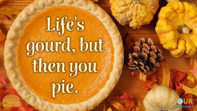 fall pun life's gourd