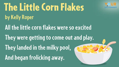 personification poem the little corn flakes