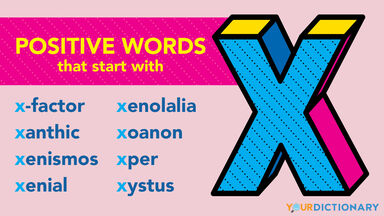 Positive X words examples