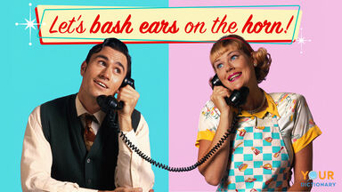 couple talking on the phone example 1950s slang
