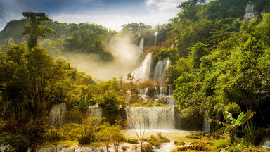 THI LOR SU Waterfall in Thailand Example of Utopia