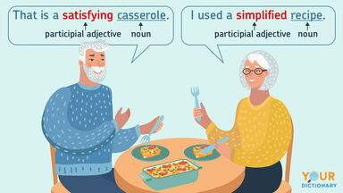 sentences participial adjective