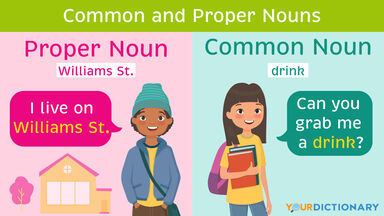 Common and Proper Nouns Examples
