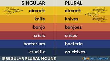 irregular plural nouns singular plural