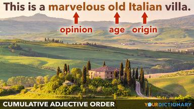 order cumulative adjectives