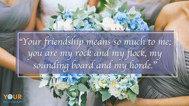 Bridesmaid Quotes example