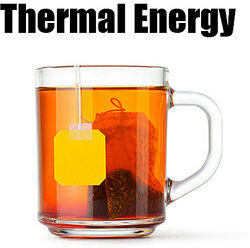 Cup of tea as kinetic energy examples
