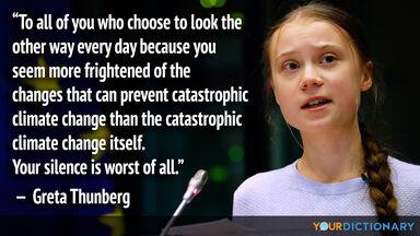 greta thunberg quote environment
