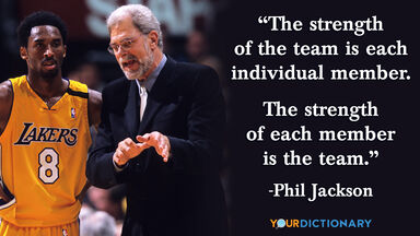 sports quote phil jackson basketball team