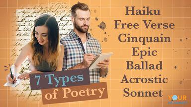 List 7 Common Types of Poetry