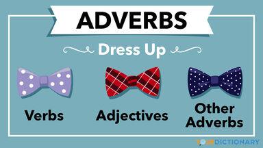 adverbs dress up verbs adjectives other adverbs