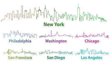 Large cities in the US