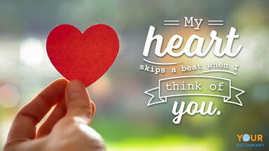 Love Quote Heart Beat