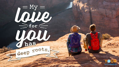 Love Quote Deep Roots Couple Mountains